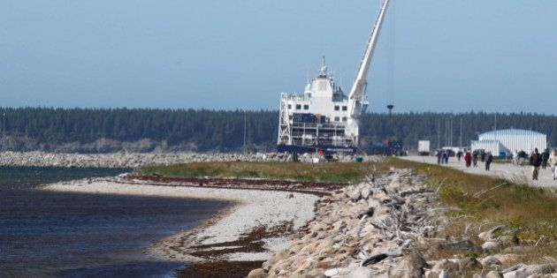TO GO WITH AFP STORY by Clement SABOURIN, CANADA-QUEBEC-OIL-GAS-ENERGYA ferry is seen on August 13, 2013 on Anticosti Island, Canada, where everything is imported from the continent once a week. Between 800 and 1,000 tourists are expected to visit Anticosti in the summer of 2013, but every Fall as many as 4,000 hunters come to the island in the Gulf of St. Lawrence. The size of the French island of Corsica in the Mediterranean, Anticosti has only 216 inhabitants. Quebec's Petrolia gas exploration company announced a partnership with the community to install an hydrocarbons exploration program scheduled to star in 2014. Economist specializing in energy issues, Pierre-Olivier Pineau believes that fracturing gas 'increases opportunities for fugitive gas leaks' that are 'worse for the greenhouse effect because it is methane that escapes without being checked.'  (Photob by Clement SABOURIN/AFP/Getty Images)