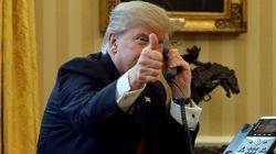 Le président Donald Trump reçoit son homologue