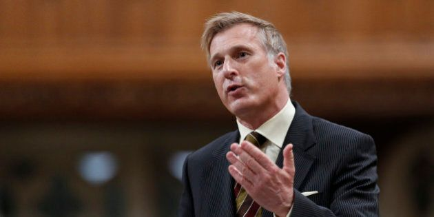 Canada's Minister of State for Small Business and Tourism Maxime Bernier speaks during Question Period...