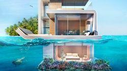 La maison à moitié sous l'eau est devenue réalité