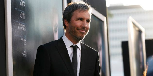 Director of the movie Denis Villeneuve poses at the premiere