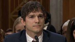 Le discours émouvant d'Ashton Kutcher sur les victimes de trafic