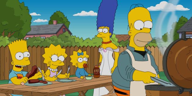 THE SIMPSONS: Homer buys a smoker in the all-new Cue Detective episode of THE SIMPSONS airing Sunday, Oct. 4 (8:00-8:30 PM ET/PT) on FOX. (Photo by FOX via Getty Images)