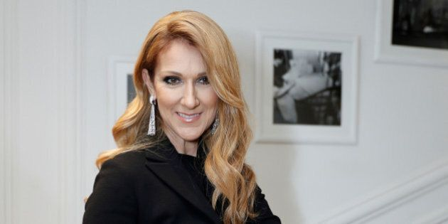 Singer Celine Dion poses before attending the Dior Haute Couture Fall Winter 2016/2017 fashion show in...