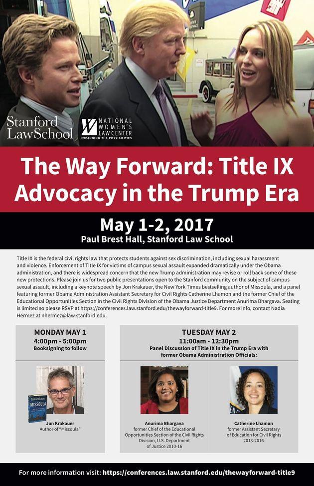 L'université de Stanford utilise une photo de Trump pour l'affiche d'une conférence sur les agressions