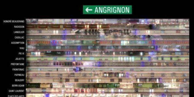 Direction Angrignon: une carte pour trouver la voiture de métro qui vous déposera pile devant une