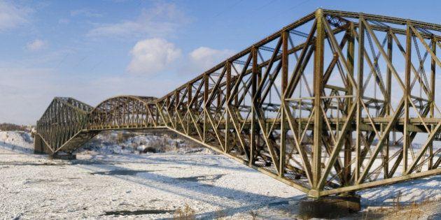 Le pont de Québec dans un état