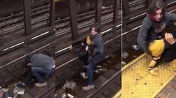 Un héros saute sur les rails du métro pour sauver un homme en détresse