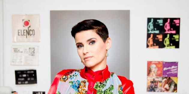 TORONTO, ON - MARCH 8 - Nelly Furtado photographed at Cosmic Records where she used to work. Nelly has...