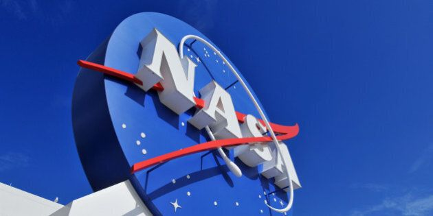 'Cape Canaveral, FL, USA- January 2, 2011: The NASA\'s Logo Signage at the Kennedy Space Center, NASA...