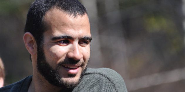 EDMONTON, AB - MAY 9:  Omar Khadr goes for a walk near the home of Dennis Edney, his longtime lawyer, on his first day of freedom in nearly 13 years.        (Michelle Shephard/Toronto Star via Getty Images)