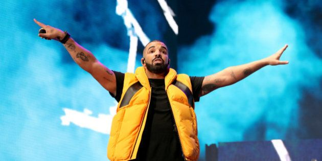 INDIO, CA - APRIL 15: Drake performs on the Coachella stage during day 2 of the Coachella Valley Music...