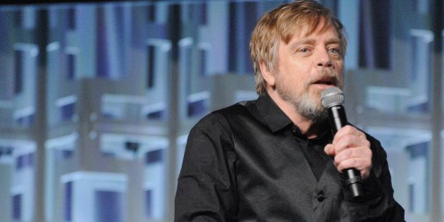ORLANDO, FL - APRIL 14: Mark Hamill attends the Star Wars: The Last Jedi panel during the 2017 Star Wars...
