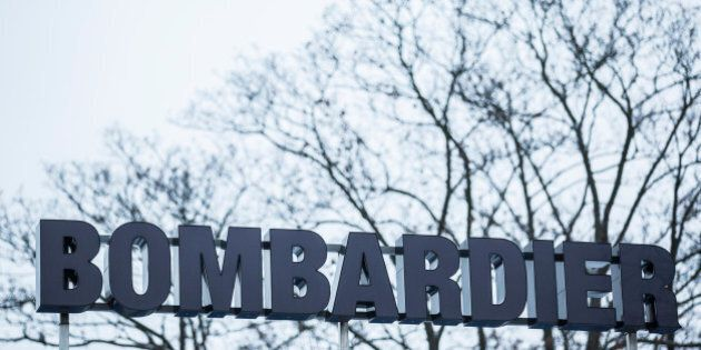 GOERLITZ, GERMANY - JANUARY 09: The logo in front of the plant of Bombardier is pictured on January 09,...