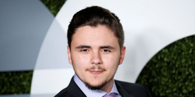 Prince Jackson poses at the GQ Men of the Year Party in West Hollywood, California, December 8, 2016....