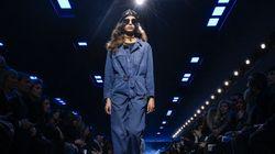 Semaine de mode Paris: Dior en bleu de