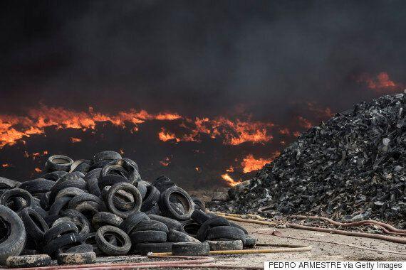 L'incendie du dépotoir de pneus espagnol est