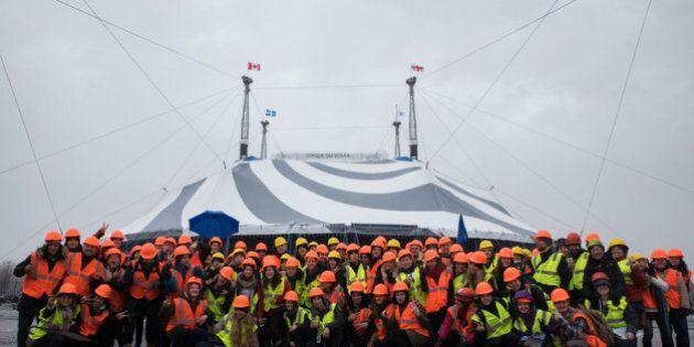 «Volta»: Levée du chapiteau du nouveau spectacle du Cirque du Soleil