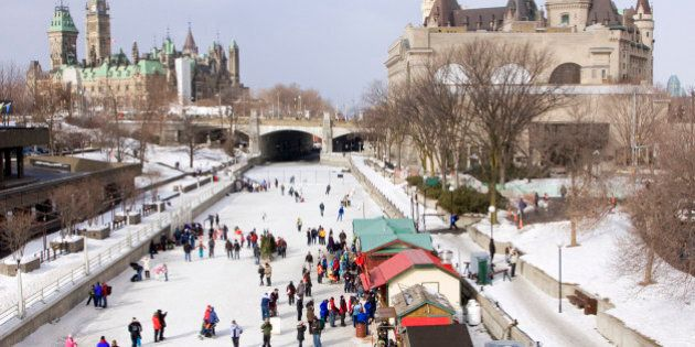 Rideau Canal Skating Ring in OtawaSee more of my similar pictures at: http://www.istockphoto.com/search/lightbox/9781415
