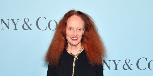 NEW YORK, NY - APRIL 15: Grace Coddington attends the Tiffany & Co. Blue Book Gala at The Cunard Building...