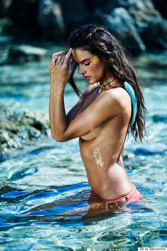 Alessandra Ambrosio lance sa ligne de tatouages