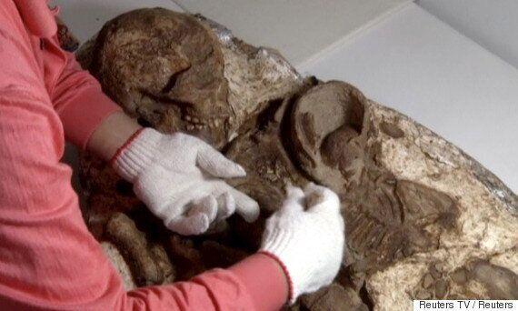 Le squelette fossilisé d'une mère tenant celui de son bébé pendant 4 800 ans a été découvert par des
