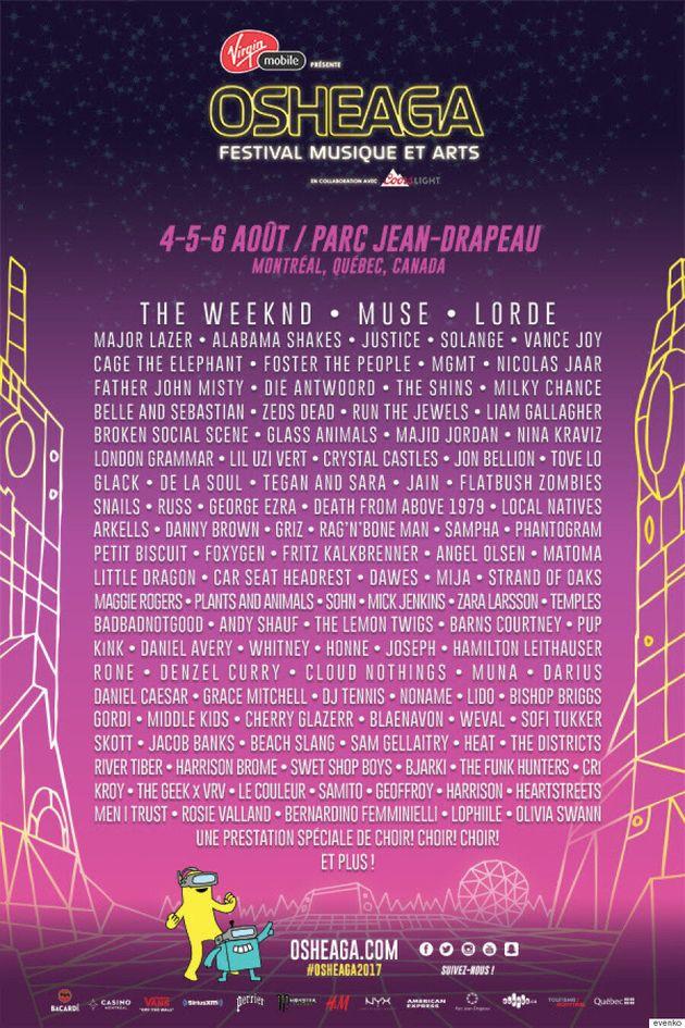 Osheaga 2017: Muse, The Weeknd,