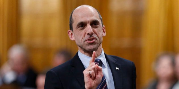 Canada's Public Safety Minister Steven Blaney speaks during Question Period in the House of Commons on...