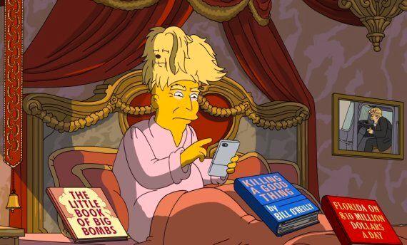 «Les Simpson» n'ont rien épargné à Donald Trump pour le bilan de ses 100 premiers jours à la Maison