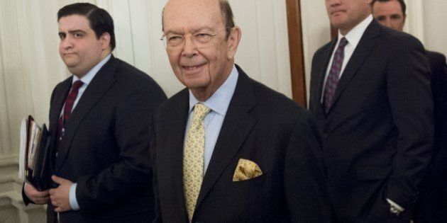 Wilbur Ross, nominee for Secretary of Commerce, arrives for a meeting with US President Donald Trump...
