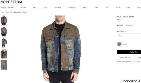 Ce jeans couvert de fausse boue est vendu 578 dollars canadiens. Oui, 578 !