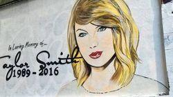 Le mémorial en hommage à Taylor Swift ne ressemble déjà plus à ça