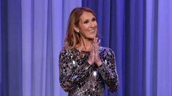 Céline Dion magnifique chez Jimmy Fallon dans cette mini robe métallique