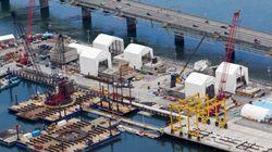 L'évolution du chantier du pont Champlain vue des airs