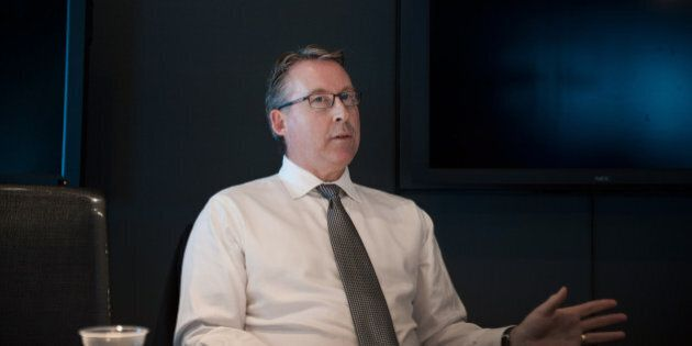 Paul Mahon, chief executive officer of Great-West Lifeco Inc., speaks during an interview in Toronto,...