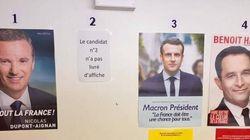 Les affiches de Marine Le Pen absentes des bureaux de vote à