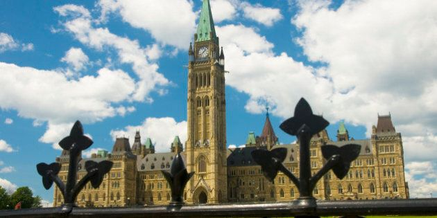 Parliament over the fence, Ottawa, Ontario,