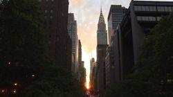 C'est à New York qu'il fallait être lundi pour voir le coucher de
