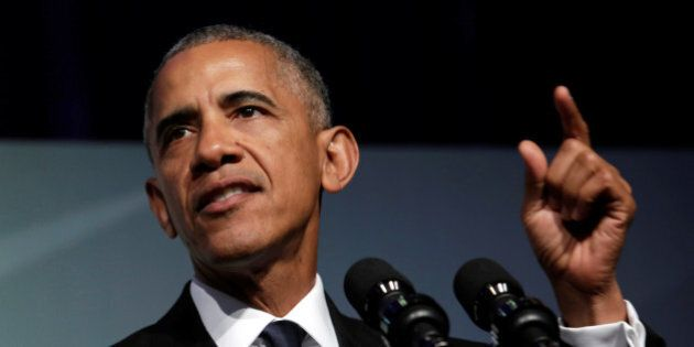 U.S. President Barack Obama addresses the Congressional Black Caucus Foundation's 46th annual Legislative...