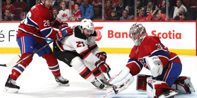 Dec 8, 2016; Montreal, Quebec, CAN; Montreal Canadiens goalie Carey Price (31) makes a save against New...