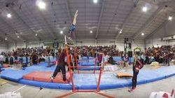 Ce coach de gymnastique a des réflexes incroyables