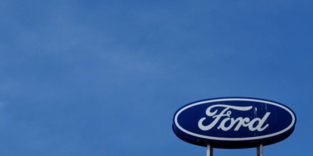 A Ford logo is pictured at a store of the automaker in Vienna, Austria on April 28, 2016. REUTERS/Leonhard...
