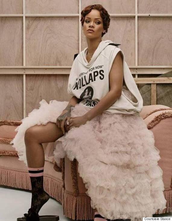 Rihanna dévoile sa version des parfaits bas pour Stance: sexy !
