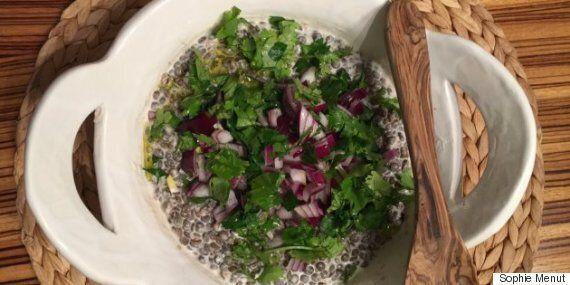 Vite fait, bien fait: salade de lentilles et oignons
