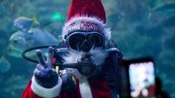 Le père Noël rend visite à