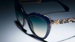 Camélias et glamour à l'italienne pour les lunettes bijoux de