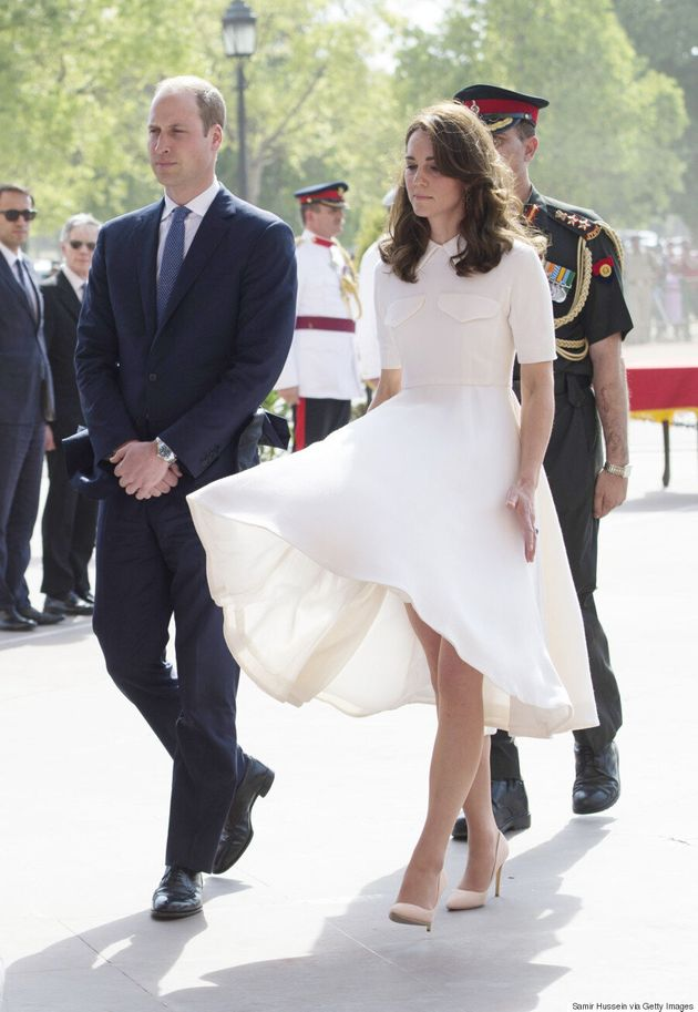 Kate Middleton vit un moment «Marilyn» en Inde