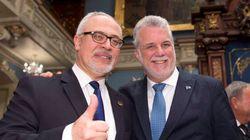 Le gouvernement Couillard vante son bilan à la veille d'élections