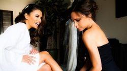 De superbes photos de la robe conçue par Victoria Beckham pour le mariage d'Eva