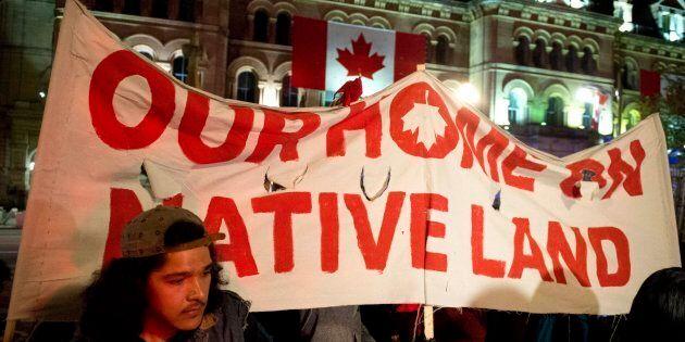 Plusieurs arrestations dans une manifestation d'Autochtones à